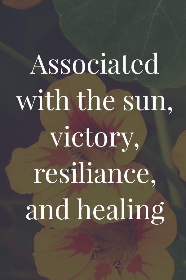 associated with the sun, victory, resiliance, and healing